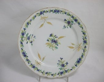 BLOWOUT SALE Sevres Flower and Wheat Supper Plate