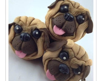 Pug Face Cupcakes PDF Tutorial