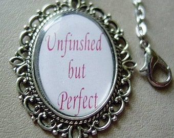 I'm PERFECT Antique Silver Necklace