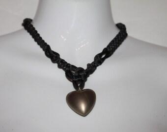 Silver tone Heart pendant Necklace