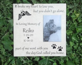 Pet Memorial, It Broke my Heart to Lose You, 12 inch x 12 inch Memorial Plaque