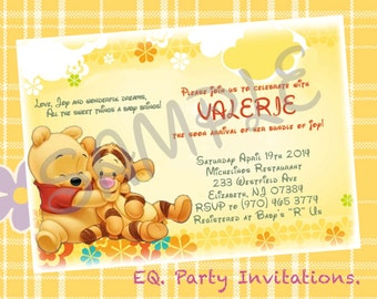 Winnie the Pooh Baby Shower Invitation - Printable
