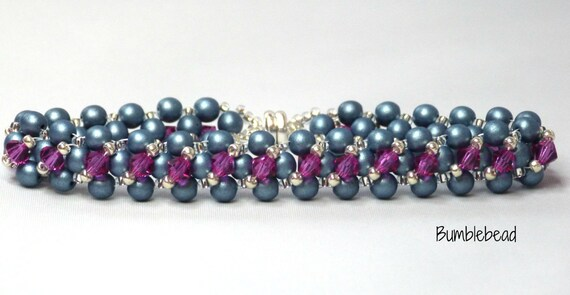 Tennis Bracelet: A Seed Beadweaving Tutorial Pattern