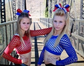 Mesh Long Sleeve Crop Tops (12 colors to choose from) Cheerleading/Dance