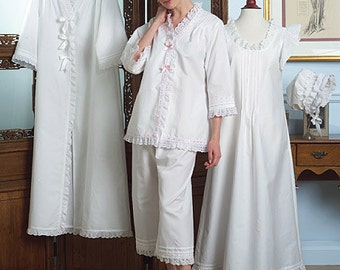 Butterick 5061 Historic Jacket, Robe, Nightgown, Pants, and Hat Sewing Pattern Size Xsm, Sml, & M