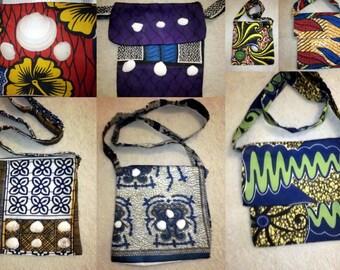 African print Handmade sling bag