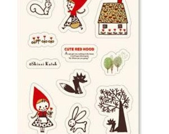 Little Red Riding Hood Stickers B - 1 sheet