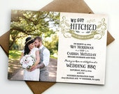 Post wedding reception invitation / We got hitched!