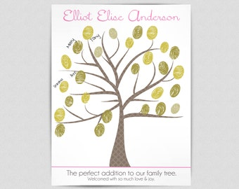 Baby Shower Thumbprint Tree Guest Book - PRINTABLE