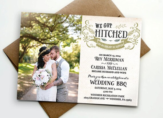 Post Wedding Invitations is the best ideas you have to choose for invitation example