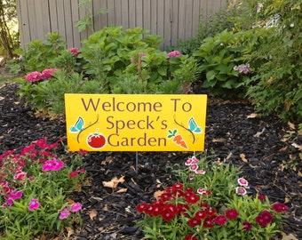 Vegetable Garden Outdoor Wood Sign