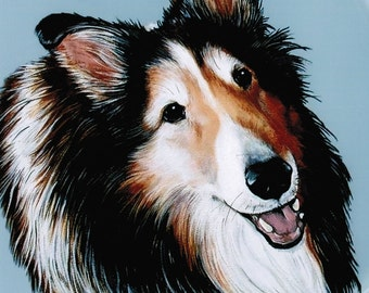 Sheltie - Sheltie Art - Sheltie Painting - Shetland Sheepdog Art - Shelties - Pet Portrait - Sheltie Picture - Dog Breed Art - Weeze Mace