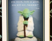 Yoda Happy Birthday Card - When Nine Hundred Years Old You Reach, Look As Good, You Will Not,