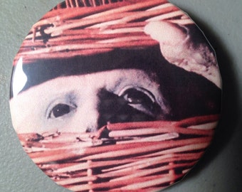 Basketcase pinback button
