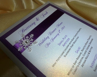 Luxury Wedding Menu and Place Cards