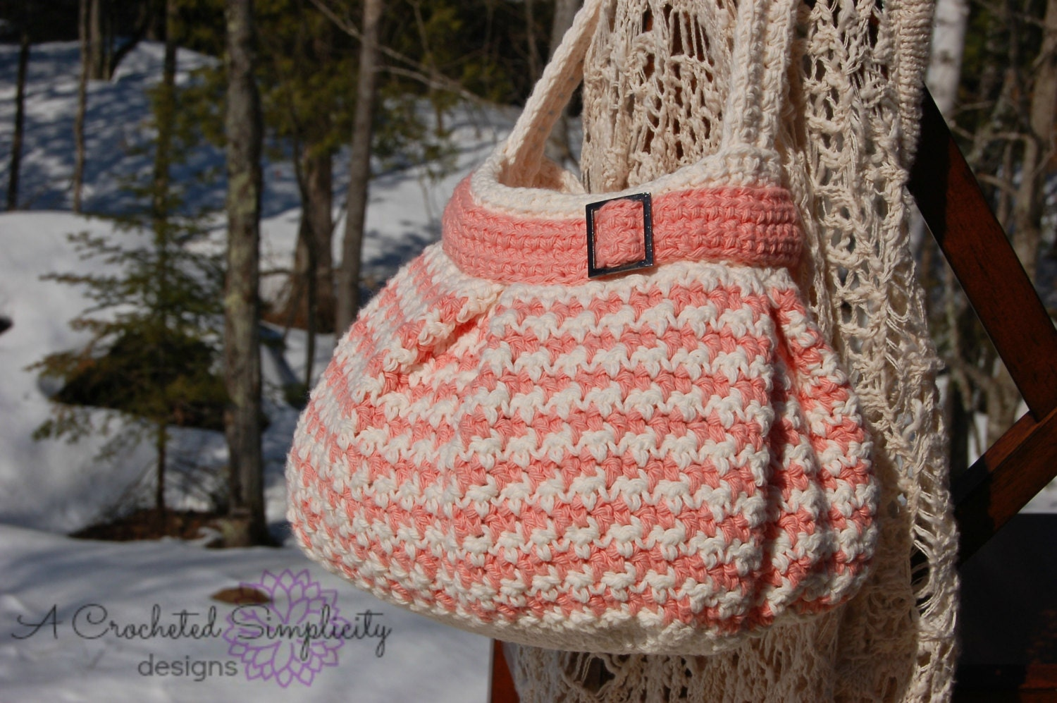 Crochet Pattern Houndstooth Handbag Purse Permission To