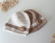 Baby coming home outfit Baby boy hospital outfit hats twin hats take home outfit baby hats button hat crochet baby hat