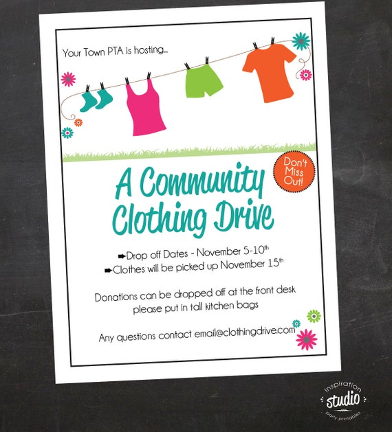 Attractive Like This Item? With Clothing Drive Flyer Template
