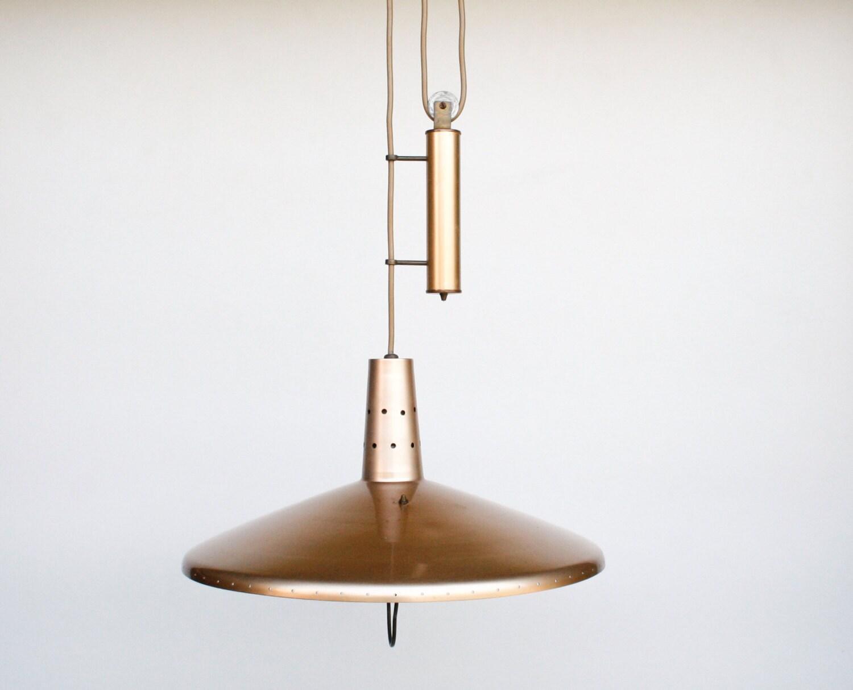 mid century pulley pendant lamp height adjustable ceiling. Black Bedroom Furniture Sets. Home Design Ideas