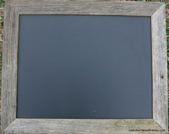 "Rustic Barnwood Framed Chalkboard Chalk Black Board Display Menu 11""x14"""
