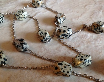 Dalmatian Jasper Long Necklace