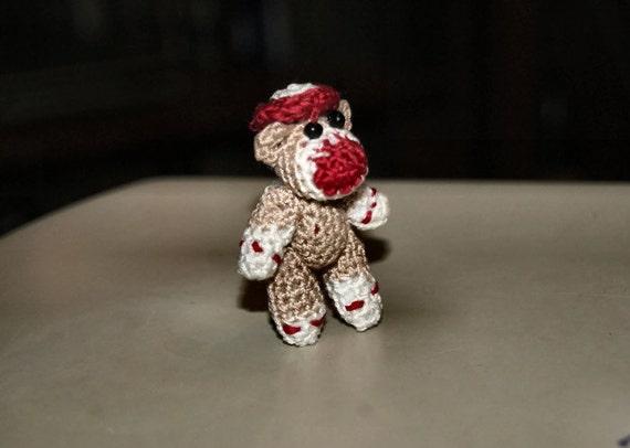 Amigurumi Crochet Sock Monkey : SALE Amigurumi Sock Monkey Miniature Monkey by ...