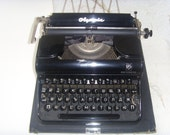 Antique Typewriter Olympia Progress Made in Germany in 1960s. - Astra9