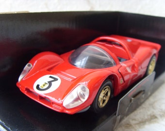 Ferrari 1967 330 P4 New Vintage Red Car Model Made in 1990s
