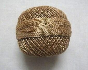 Beige with Gold Lurex - 20 gm Lurex Cotton Yarn / Thread for Crochet / Embroidery / Knitting