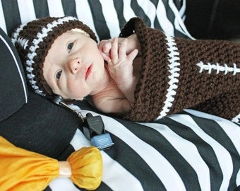 Football Baby Sack with Hat