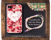 Love and Hearts iPhone Case, Valentines Day iPhone Case, iPhone 4, iPhone 4s, iPhone 5, iPhone 5s, iPhone 5c, iPhone 6, Plastic iPhone Case
