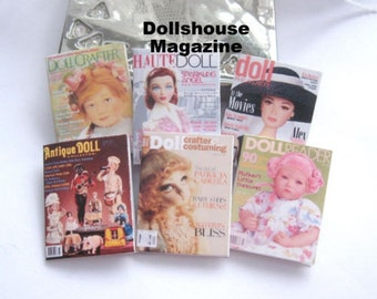 dollhouse doll magazines x 6 miniature 12th scale for display lakeland artist new
