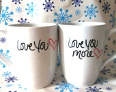 Valentines Day - Love You More - Set of 2 Mugs