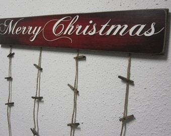 Oh Holy Night Christmas Card Holder Merry Christmas Card