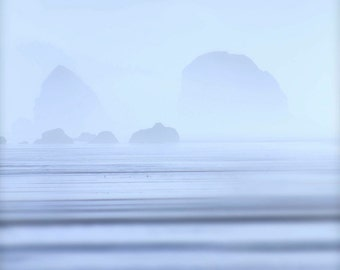oceanscape photograph - zen photography - yoga photography - meditation print - large wall art - home decor - studio decor - wall photo