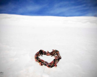fine art photograph - heart photograph - winter photography - nature photography - snow art print - blue skies - home decor - wall art
