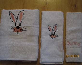 BUNNY FACE 3 Piece Towel Set