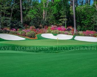 The Azalea, Hole Number 13, The Masters, Augusta National Golf Artwork Print