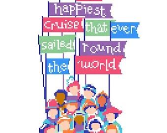 Happiest Little Cruise PDF cross stitch pattern