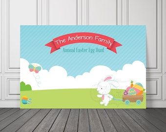 Easter Backdrop / Easter Vinyl Banner / Egg Hunt Vinyl Banner / Egg Hunt Backdrop