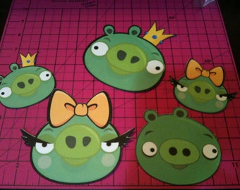 Angry Birds -Die Cuts   The Pigs!