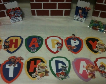 Paw Patrol Banner with Name and Age