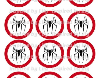 INSTANT DOWNLOAD Spiderman cupcake toppers, Spiderman party, Spiderman theme birthday