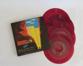 """Vintage recording, Grand Canyon Suite, Arturo Toscanini, Ferde Grofe, red vinyl, vintage 7"""" records, vintage music, RCA Red Seal records"""