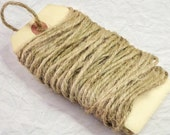 Natural Jute Twine, Vintage Coarse Rustic Burlap String, Craft Gift Wrap, Scrapbooking Embellishment, Sewing Notions