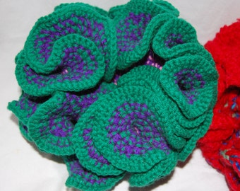 Handmade Purple, Green, and Pink 3D Coral; children's toy; gift for home; gift for her; decoration for home