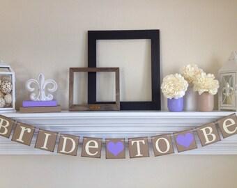 Bridal Shower décorations - jeune mariée pour être - douche nuptiale - Bachelorette Party - panneaux mariée - mariage, lavande Bridal Shower Decor