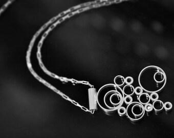 Silver Bubbles Necklace