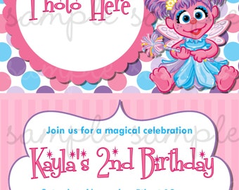 Abby Cadabby Birthday Invitation