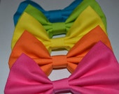Neon Hair Bow Pack